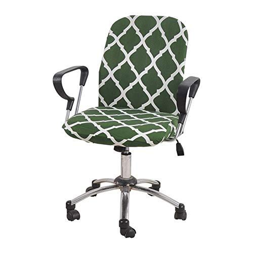 Computerstuhl-Stuhl-Cover-elastische Stuhlabdeckung-Cover-Büro-Armlehne-Schwenkstuhl Rückenlehnenabdeckung (Color : Green)