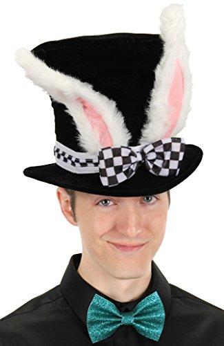 elope Alice in Wonderland White Rabbit Black Costume Top Hat