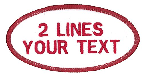 Name Patches Uniform or Work Shirt, 2 Lines of Personalized...