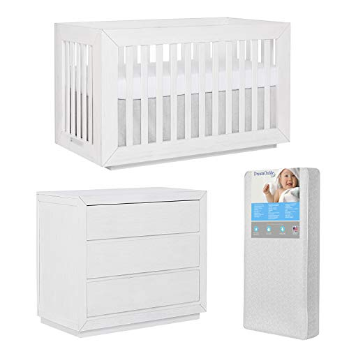 Learn More About Evolur Maddox Modern Crib & Small Chest with Free 260 Coil Crib & Toddler Mattress