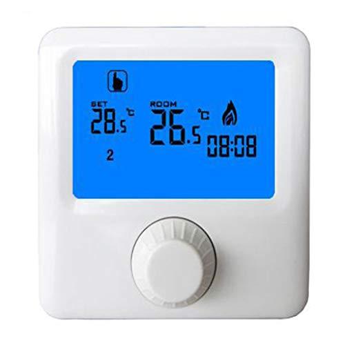 MagiDeal Controlador de Calefacción de Caldera de Gas de Pared con Termostato de Habitación con Interruptor Giratorio HY06BW
