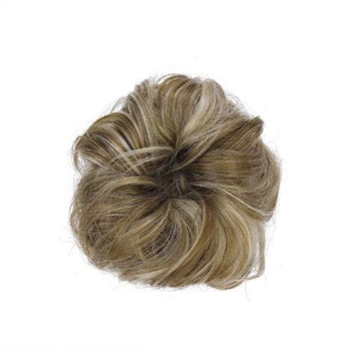 Frcolor Mesdames Mode Poney Tail Extension De Cheveux Chun Hairpieces Chouchou Élastique Vague Élastique Des Poils Synthétiques Hairy