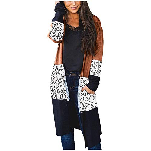 IHEHUA Damen Herbst Strickjacke Casual Gestreift Cardigan Bunt Outwear Lose Pullover...
