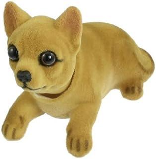 eDealMax Al Ritmo del coche auto Chihuahua Bobblehead tablero de instrumentos Perros Decoraciones juguete