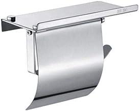 Badkamer- en keukenrolhouder, met plank zonder nagels, zelfklevende, ruimte aluminium dunne papier rolhouder, aan de muur ...