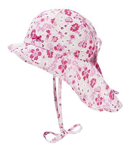 Döll Baby-Mädchen Nackenschutz Sonnenhut, Rosa (Pink Lady|Rose 2720), 49