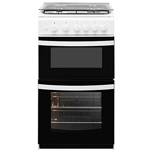 Indesit ID5G00KMWL 50cm Double Cavity Gas Cooker With Lid - White
