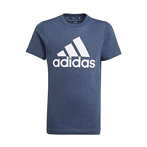 adidas B Bl T Maglietta per Bambini, Bambino, Maglietta, GN3992, Blu/Bianco (Crew Navy Mel/White), 16 Anni