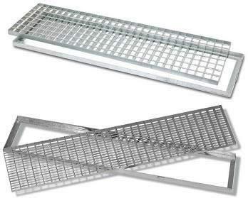 Griglia da esterno - Acciaio zincato a caldo - Griglia per pozzetti bocche da lupo scolo acqua - 22 diverse dimensioni a scelta (100x25)