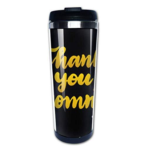 Gracias mamá taza de viaje de café tazas de café con tapas taza de acero inoxidable para hombres mujeres