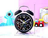 ksjdjok Réveil à Quartz Métal Muet Nuit Lumières Grand Sonnerie Réveil Cube Coloré De Rubik De 4 Pouces