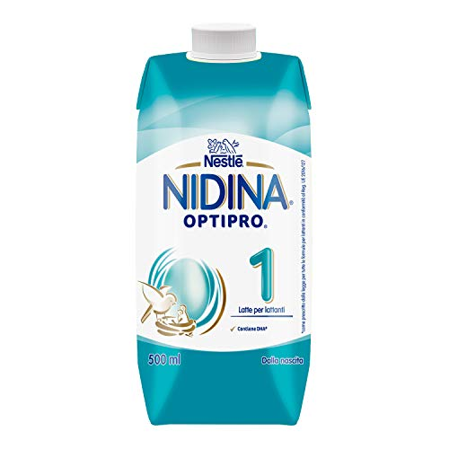 Nestlé Nidina Optipro 1 dalla Nascita Latte per lattanti liquido 12 brick da 500 ml