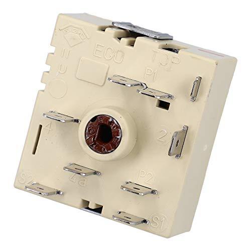 DL-pro Schalter passend für E.G.O. 50.55021.100 / 5055021100 Kochplattenschalter Energieregler EGO Zweikreis rechts steigend für Kochfeld Herd