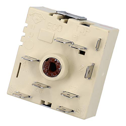 DL-pro Schalter passend für E.G.O. 50.55021.100/5055021100 Kochplattenschalter Energieregler EGO Zweikreis rechts steigend für Kochfeld Herd