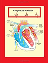 Composition Notebook:: How Your Heart Works - Labeled Heart Diagram System Notebook