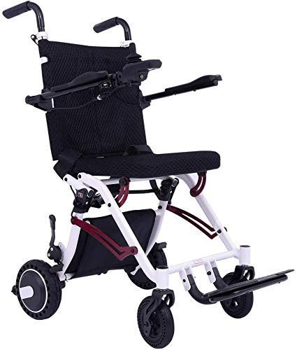 JYTFZD YANGLOU- Plegable eléctrico eléctrico Silla de Ruedas Ligera Portátil Silla Inteligente Smart Mobility Scootchair Silla de Ruedas - Pesa Solo 40 lbs con batería OUZDDDLY-