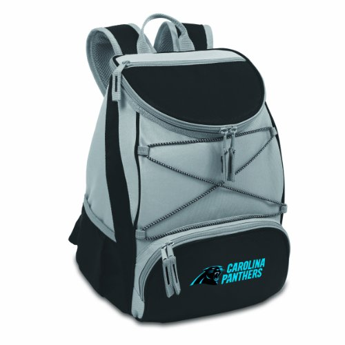 PICNIC TIME NFL Carolina Panthers PTX Isolierter Rucksack, Schwarz