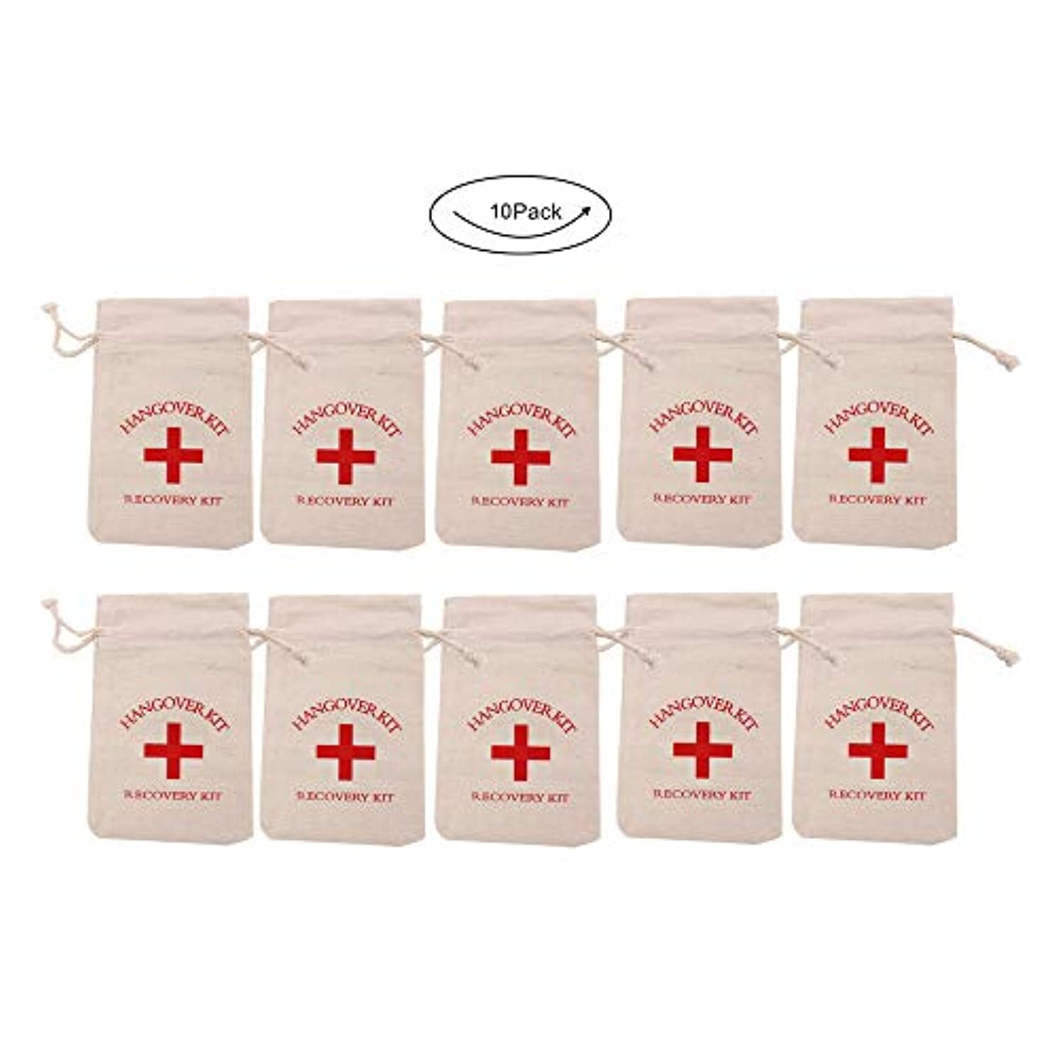 10pcs 3.9 x 5.5 Inch Hangover Kit Bags for Bachelorette Party Aid Bags Bridesmaid Gifts Bags Destination Wedding Welcome Bags
