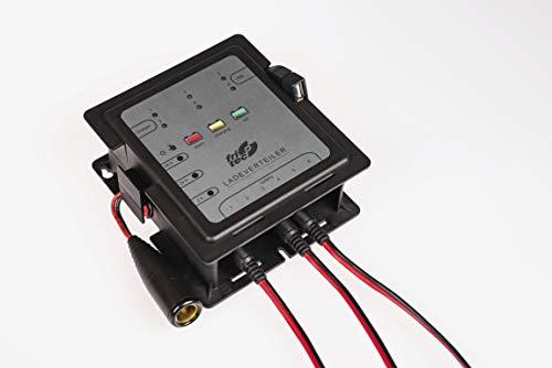 Fritec Ladeverteiler, Mehrfach Ladegerät, bis zu 6 Batterien oder Fahrzeuge Aufladen und pflegen Ladeverteiler Made in Germany. Für alle 12 V Fahrzeugbatterien wie Blei, Gel, AGM, EFB, Lifepo