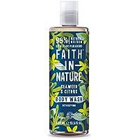 Faith in Nature Gel de Baño Natural de Algas Marinas y Cítricos, Detoxificante, Vegano y No Testado en Animales, sin Parabenos ni SLS, 400 ml