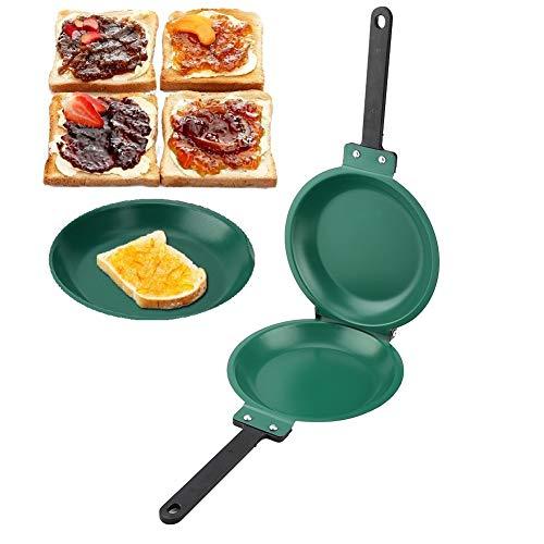 Dubbelzijdige pan, dubbelzijdige antiaanbaklaag Keramische coating Flip koekenpan Pannenkoekenmaker Huishoudelijk keukengerei