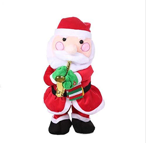 YesDone Kerstmis Elektrische Speelgoed, Kerstman Elk Sneeuwman Het spelen van de Saxofoon Speelgoed Kerstmis Gift