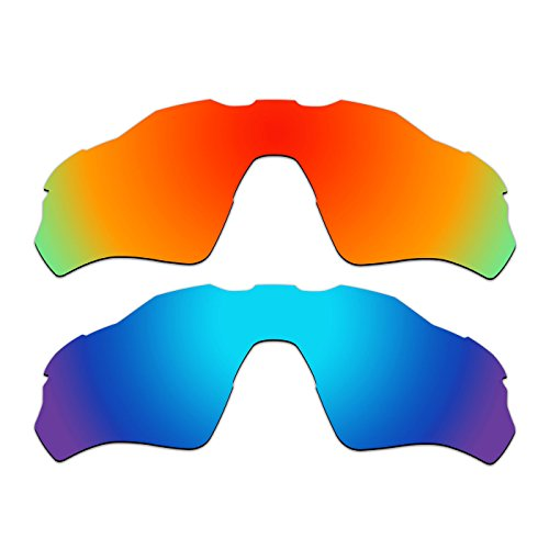2 Pair ACOMPATIBLE Replacement Polarized Vented Lenses for Oakley Radar EV XS Path (Youth Fit) Sunglasses OJ9001 Pack P2