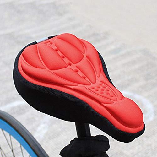 QINGCHU Funda para sillín de bicicleta, adecuada para asientos de bicicleta de montaña y de carretera, acolchada.