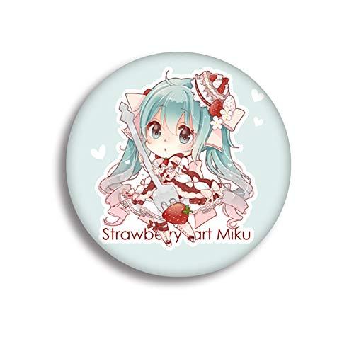 KroY PecoeD 1 STÜCKE Hatsune Miku Icon Runde Abzeichen Cartoon Sammeln Brosche Kleidung Zubehör Beste Geschenk für Anime Fans Geschenk(Style 08)