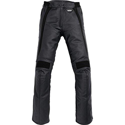 FLM Kombihose Lederkombi Motorradhose mit Protektoren Sports Damen Lederkombihose 2.0 schwarz 44, Sportler, Sommer