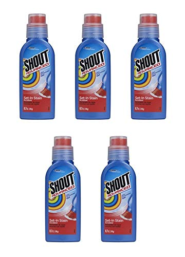 Shout Advanced Ultra Concentrated Gel Set-In Stain Brush Laundry Stain Remover, 8.7 oz (Pack of 5) -  by Shout