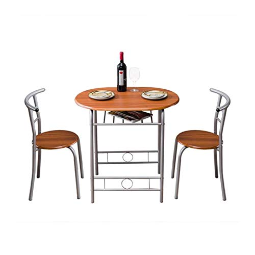 Chairs Brown Wood Grain PVC Breakfast Table,for Home Breakfast Apartment