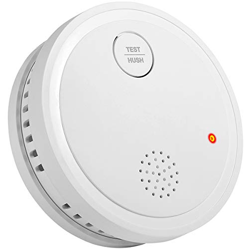 Semoss Alarmas de Seguridad Para Casa Detector de Humo 10 Años de Bateria y Smart Sensor Fotoeléctrico con Menos Falsa Alarma,Equipo de Seguridad Contra Incendios,TUV EN14604