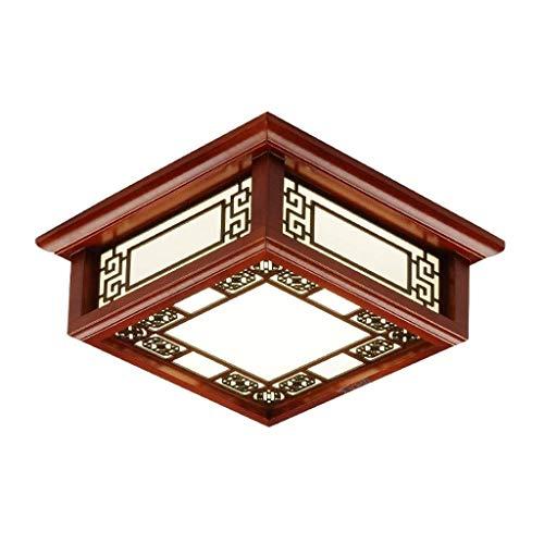 Guoqunshop Ceiling Ligth Chinese Style Wood LED Ceiling Light Living Room Bedroom Flush Mount Light Fixture Restaurant Light Ceiling Light Fixtures