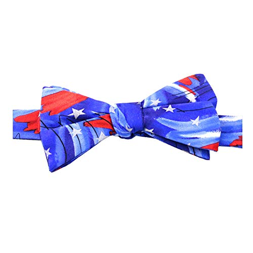 Jerry Garcia Men's U.S.A. Patriotic 4th of July Red White Blue Pre-Tied Banded Bow Tie