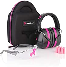 TRADESMART Shooting Ear-Protection Earmuffs, Glasses, Earplugs, Protective Case