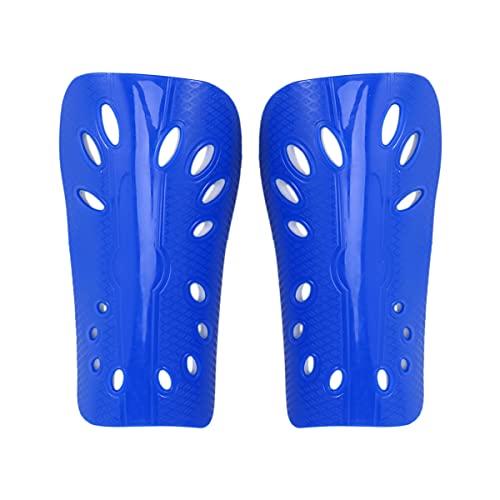 WINOMO Fußball Shin Guards Bein Pad Protector Blau Jugend Fußball Shin Guards Erwachsene Fußball Shin Pads Bein Kalb Knöchel Schutz für Männer Frauen Fußball Schutz