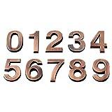 LIOOBO 10pcs 0-9 Numero di Targa per la Porta dell'hotel Numero civico Indirizzo Targa Tar...