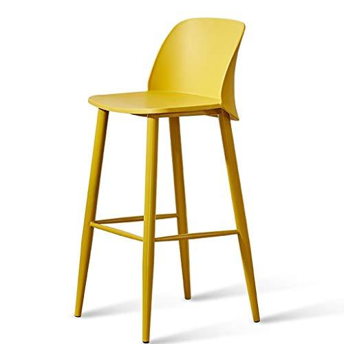 Over Bian Nordic metalen stang Moda stoel van smeedijzeren barkruk hoge Rimbalzo gevuld hoge kruk PP met ergonomisch design van de rugleuning.