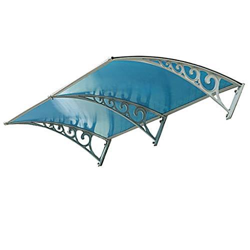 Lw Canopies deurluifel terrasdak, PC Shade veranda dakafdekking UV-beschermdeur-overkapping 80×200cm