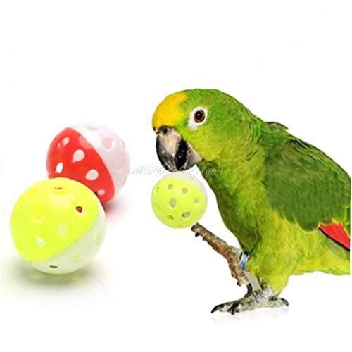 TOSSPER Papageispielzeug Vogel Hohl Bellkugel Für Sittiche Cockatiel Chew Spaß Käfig Spielzeug Haustier Ergänzende Zufällige Farbe