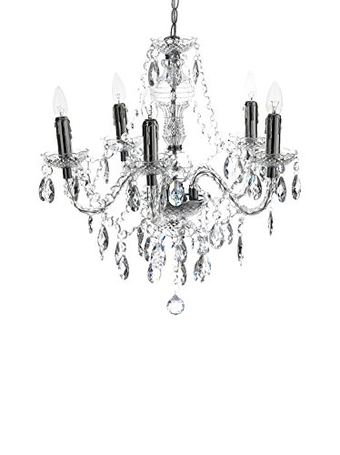 Wink design, Boston , Lampadario 5 Luci, Trasparente, Diametro 55 cm/Altezza 60 cm