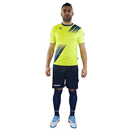 LEGEA Salamanca - Camiseta y pantalón Corto para Hombre, Hombre, Camiseta y pantalón Corto, 8030451046687, Azul y Azul Claro, Large
