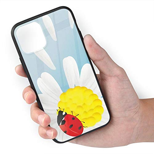 Ladybug on Flower iPhone 11 Case,Anti-Yellow Anti-Scratch Shockproof Cover Compatible with iPhone,Dual Layer Rugged Bumper Case for iPhone 11 iPhone 11 Pro max