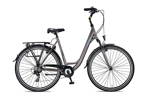Altec 28 Zoll Mädchenfahrrad Damenfahrrad Cityfahrrad Damen City Trekking Fahrrad Rad Bike Cityrad Damenrad Trekkingrad Trekkingfahrrad Gabelfederung Beleuchtung 7 Shimano Gang Verona GRAU