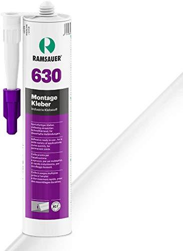 Ramsauer 630 con pegamento blanco 1 K de acrílico pegamento adhesivo 310 ml cartucho