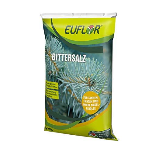 Euflor Bittersalz 5kg•Sack Magnesiumsulfat 16% MgO wasserlösliches Magnesiumoxid • Für Nadelgehölze • Fördert das Blattgrün • Beugt Magnesiummangel und Braunfärbung an Nadeln vor