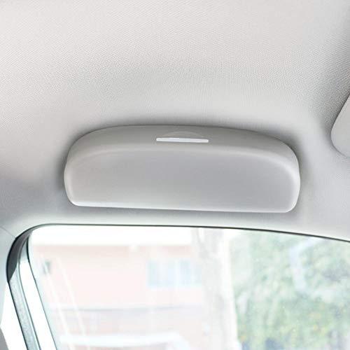 lembrd Brillenhalter für Auto Sonnenblende Auto Sonnenbrille Brillenetui Aufbewahrungsbox Organizer für Audi A4L A6L Q5L A3 Q2L Q3 Q5 Q7