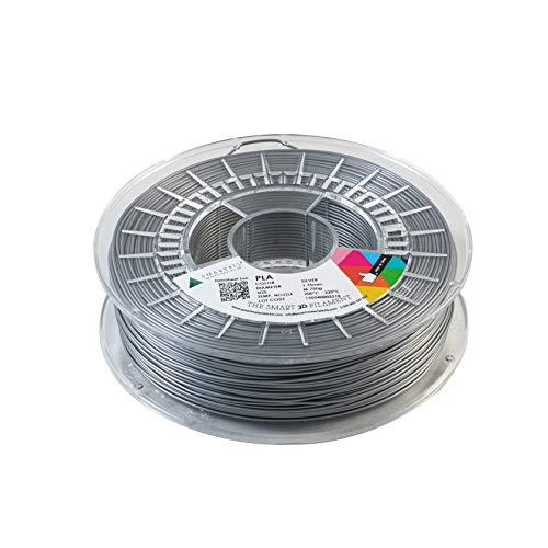 SMARTFIL PLA, 1.75mm, SILVER, 750g Filamento para impresión 3D de Smart Materials 3D