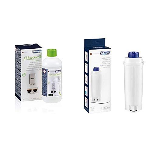 De\'Longhi Original Entkalker & Wasserfilter Bundle | EcoDecalk DLSC500 Entkalker + Wasserfilter DLSC002